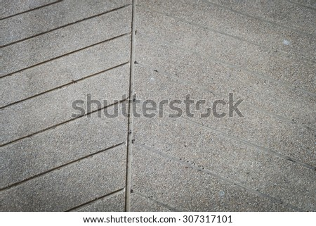 ramp way for support wheelchair disabled people made from sand and small gravel stone washed floor - stock photo