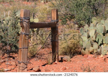 Ranch Fence - stock photo
