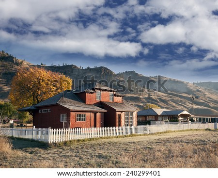 Ranch in prairies  - stock photo
