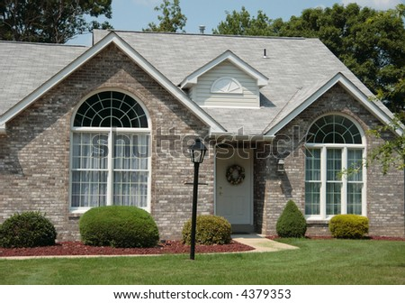 Ranch Town Home Front - stock photo