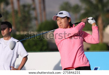 RANCHO MIRAGE, CALIFORNIA - APRIL 02, 2015 : Candie Kung  of USA at the ANA inspiration golf tournament on LPGA Tour, April 02, 2015 at The Mission Hills country club, Rancho Mirage, California.