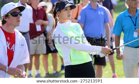Rancho Mirage, California, usa â?? april 2, 2015 : Michelle Wie of  usa during the first round of ANA inspiration golf tournament, lpga tour, at the Mission Hills country club, in Rancho Mirage, Ca