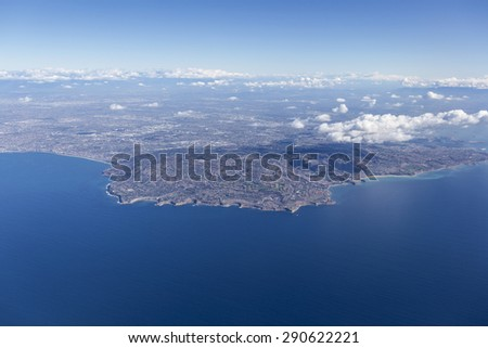 Rancho Palos Verdes aerial near Los Angeles, California.  - stock photo
