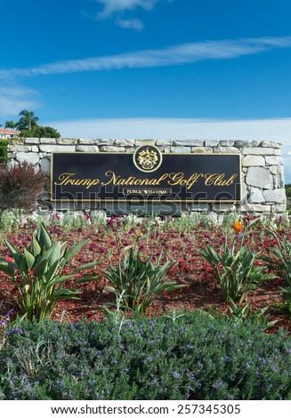 RANCHO PALOS VERDES, CA/USA - FEBRUARY 28, 2015: Donald Trump National Golf Club. Trump National Golf Club is a public golf course near Los Angeles. - stock photo