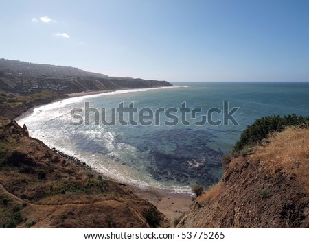 Rancho Palos Verdes Cove in Southern California. - stock photo