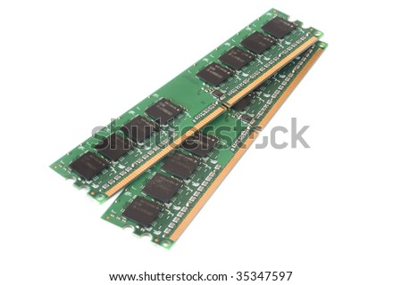Random Access Memory, part of a computer - hardware