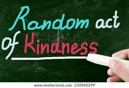 random act of kindness - stock photo