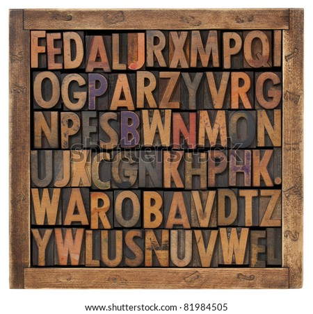 random alphabet letters - stock photo