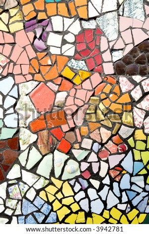 random colored tiles background ideal for backgrounds - stock photo