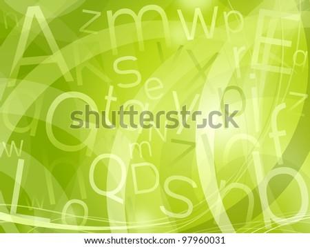 random letters background - stock photo