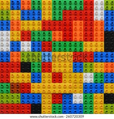 Random organised blocks background - stock photo