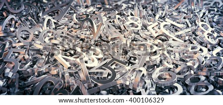 Random set of numbers background 3d illustration - stock photo