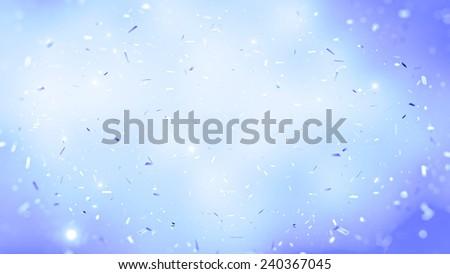 randomly flowing confetti backgound - stock photo