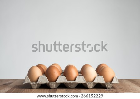 range eggs - stock photo