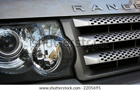 Range Rover Grill - stock photo