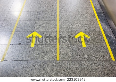 Range to target visually impaired to access to subway stairs in Bangkok subway station - stock photo