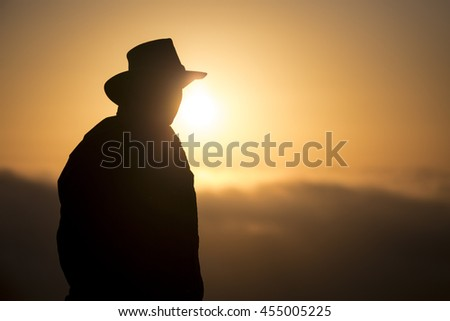 Ranger Silhouette colorful background