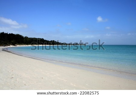 Rangiputa Beach on a beautiful sunny day, Northland, New Zealand