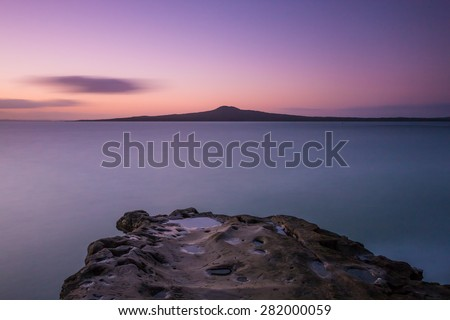 Rangitoto Island, Auckland, New Zealand - stock photo