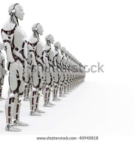 rank androids - stock photo