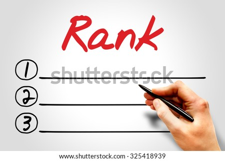 Rank blank list, business concept