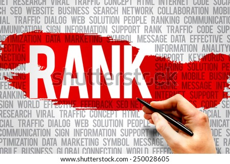 RANK word cloud, business concept - stock photo