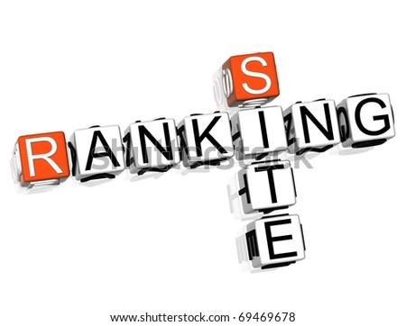 Ranking Site Crossword - stock photo