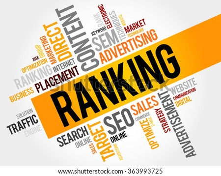 RANKING word cloud, business concept - stock photo
