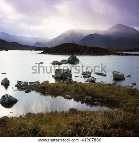 Rannoch Moor landscape - stock photo