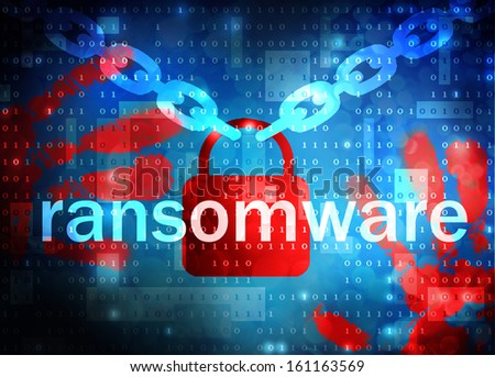 ransomware - stock photo