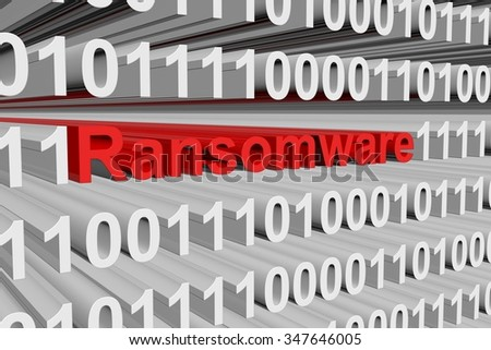 Ransomware is presented in the form of binary code