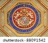 Raphael Rooms (Stanze di Raffaello) detail, Vatican, Rome, Italy - stock photo