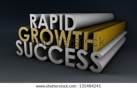 Rapid Growth and Success in a Business Company - stock photo
