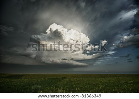 Rapid Growth of a Thunderstorm - stock photo