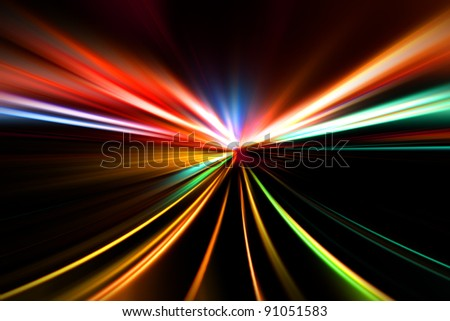 rapid race of night highway