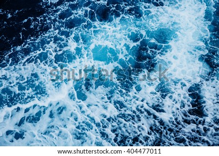 Rapid sea while sailing ship. Dramatic and picturesque scene. Beauty world. - stock photo