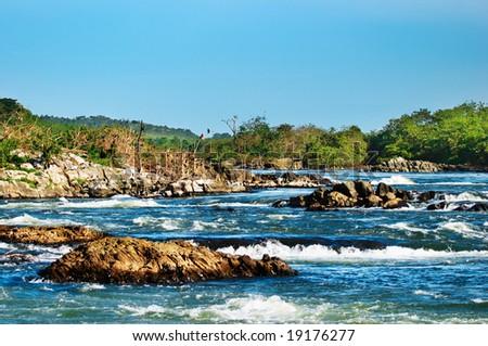 Rapids of White Nile, Uganda - stock photo