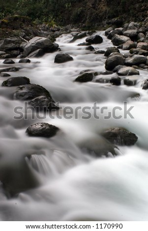 Rapids rocks and water - stock photo