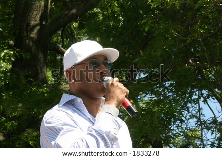 Rapper and Movie Star LL Cool J - stock photo