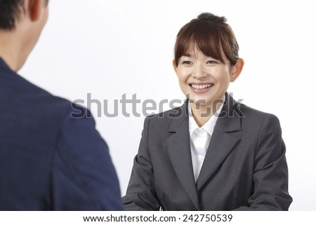 RapPort interview women - stock photo