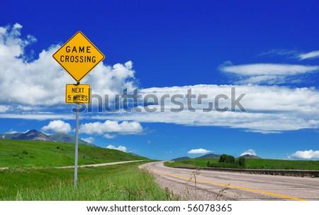 Rare Road Sign on I-15 through Idaho. - stock photo