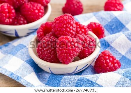 rasberries  - stock photo