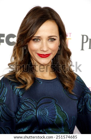 Rashida Jones at the 2013 Film Independent Spirit Awards held at the Santa Monica Beach in Los Angeles, California, United States on February 23, 2013.  - stock photo