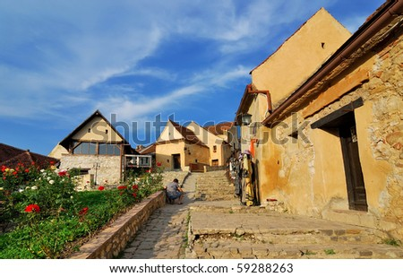 Rasnov citadel was built around the year 1215 by the Teutonic Knights, near Brasov in Romania