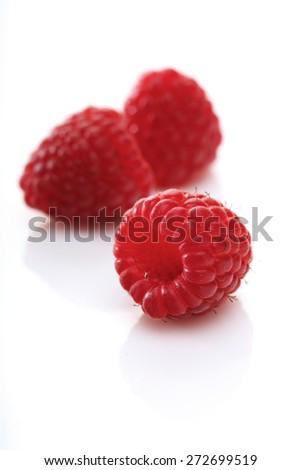 Raspberries backbround - close-up - stock photo