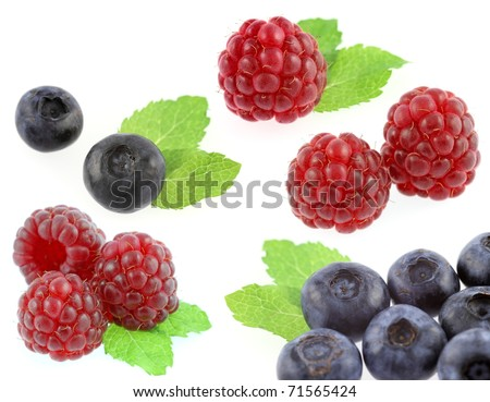 raspberry and bilberry