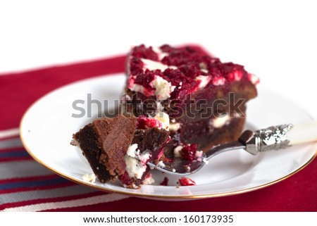 Chocolate Cream Angel Slices With Cherry-Berry Sauce Recipe ...