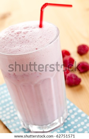 raspberry cocktail - stock photo