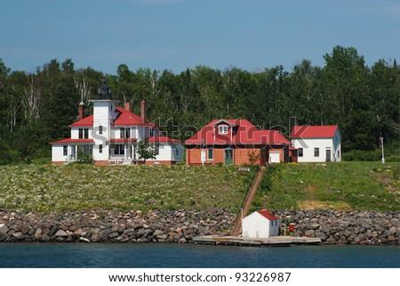 Raspberry Island Lighthouse - stock photo