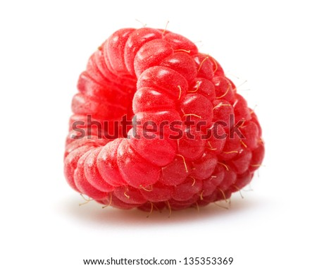 raspberry isolated on white